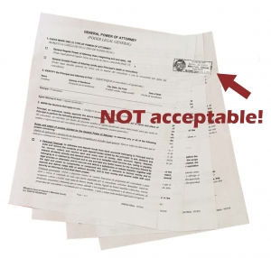 Apostille tips - no rolling stamps by this marin apostille service
